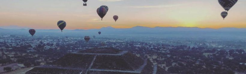 globos aerostáticos en Teotihuacán