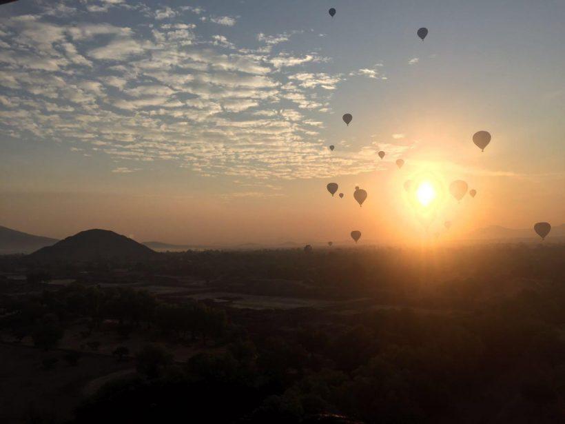 globos en teotihuacan precios