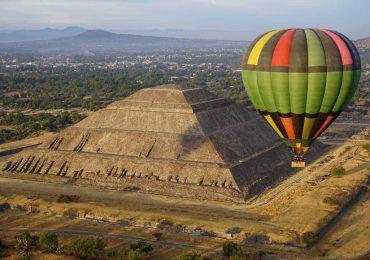 subirse a un globo en teotihuacan
