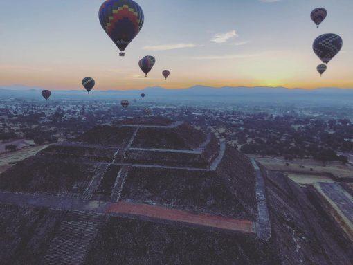 viajes en globo aerostatico en las piramides