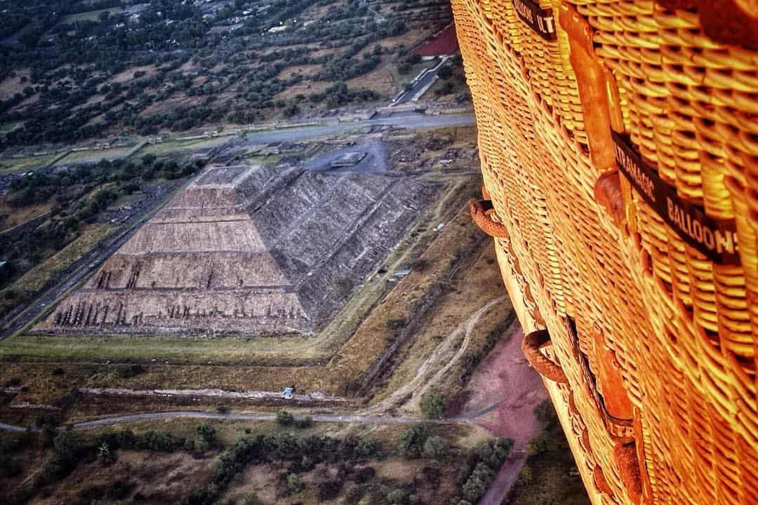 vuelos en globo aerostático sobre Teotihuacán