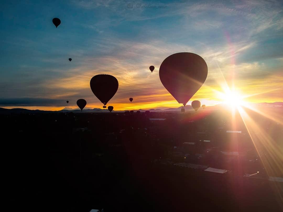 amanecer vuelo en globo teotihuacan
