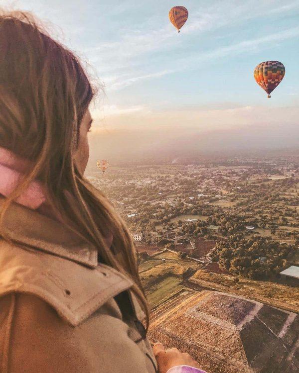 paseo en globo en las piramides de teotihuacan