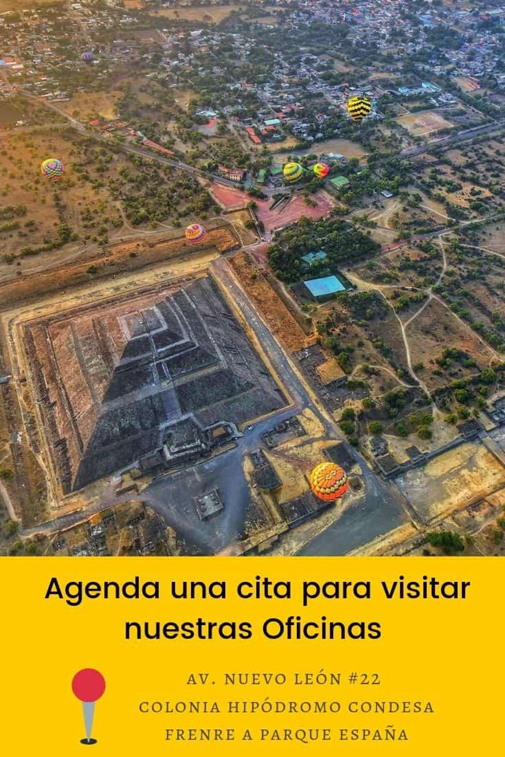 oficinas globos aerostáticos Teotihuacán