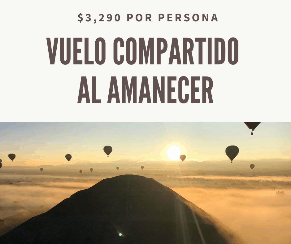 vuelo en globo al amanecer en teotihuacan